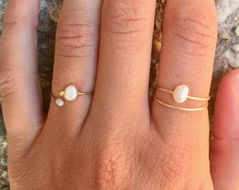 Pearl ring | Etsy