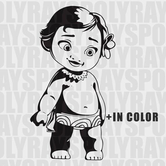 Moana Tsum Tsum Coloring Page