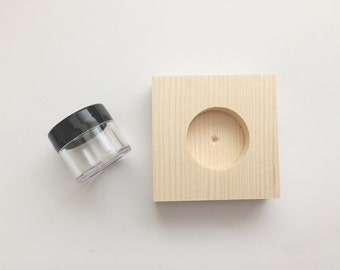 Calligraphy ink wells and holder for dip pen