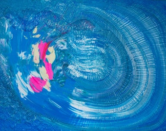 Blue Sky, Storm, large painting,acrylic painting, original, abstract painting / PERFECT STORM by Suzann Kingston *Pick Up Only