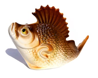 Porcelain figurine Fish large perch  High-quality realistic figurine Video preview