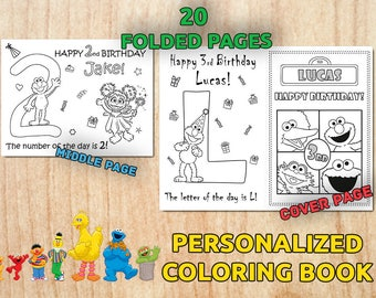 Sesame Street Party Activity Coloring Book / Digital / Printable / Birthday party / PDF