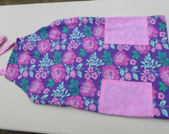 Purple, pink and turquoise adult apron