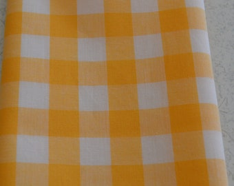 """10"""" x 10"""" Yellow and White Large Gingham Pocket Square"""