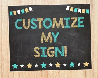 Custom Birthday Chalkboard sign