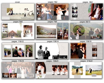 INSTANT DOWNLOAD - 12x12 Wedding Album template - Couple Neutral Beige - 0363 FA