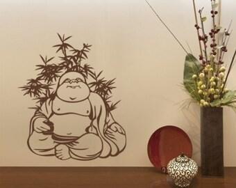 Quite Buddha wall decal, sticker, mural, vinyl wall art