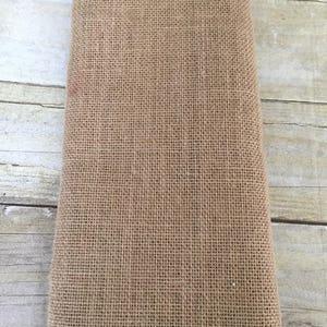 """Tan Brown Burlap Fabric Material --1/2 yard--60"""" Wide"""