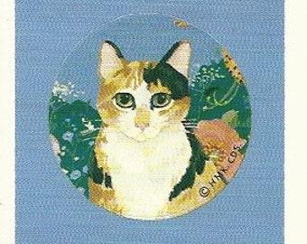 Vintage 80's Hallmark Calico Cat Sticker