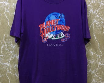 Vintage Planet Hollywood Las Vegas, Planet Hollywood t shirt made in usa Large size