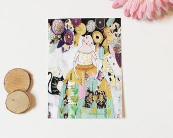 """Carte postale """"Cats & Me"""", 10,5x14,7cm"""