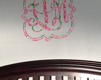Quatrefoil Monogram Wall Decal