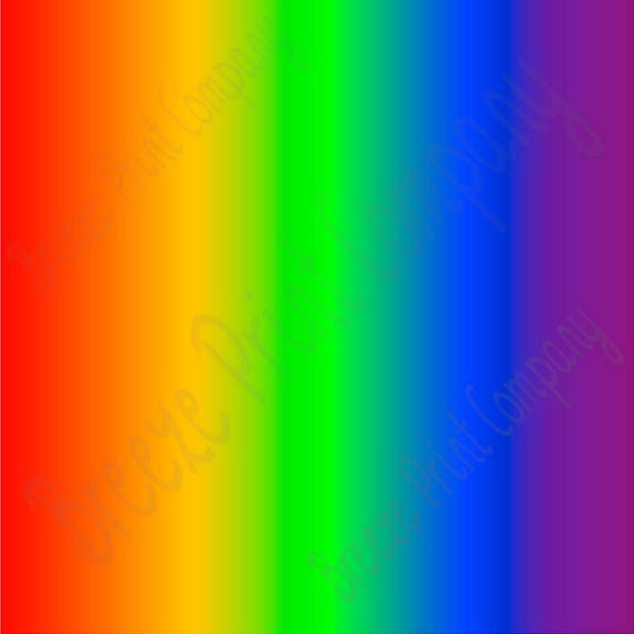 Rainbow Ombre Print Craft Vinyl Sheet Htv Or Adhesive Vinyl