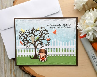 Friend Card - Miss You, Friend Cards, Handmade Cards, Best Friend Cards, Best Friends, Card for Friend, Missing You, Miss You Cards