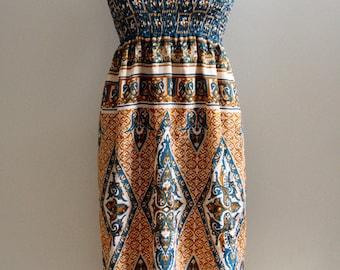 Neela, Indian sari dress.