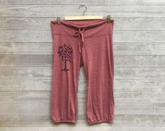 SALE Little Seedling Cropped Pants, Yoga Pants, Capris