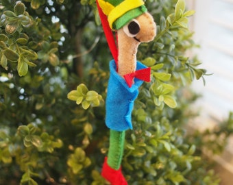 Lowly Worm Felt Ornament