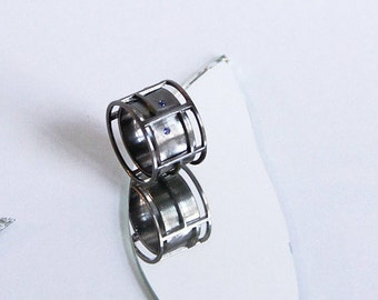 The Architect ring - Silver with Sapphire, various color options