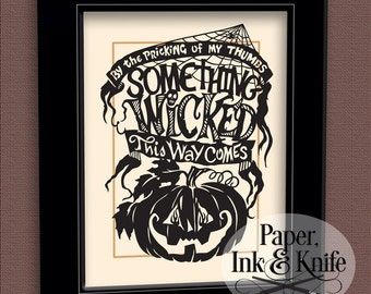 Something Wicked This Way Comes Papercut template. Intermediate Commercial and Personal Use Includes PDF, SVG and DXF files