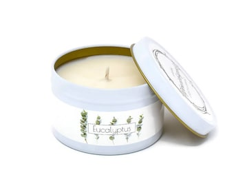 Eucalyptus Candle   Eucalyptus Essential Oil   Essential Oil Candle   Aromatherapy Candle   Soy Candle  Unique Candle  Soy Wax Candle