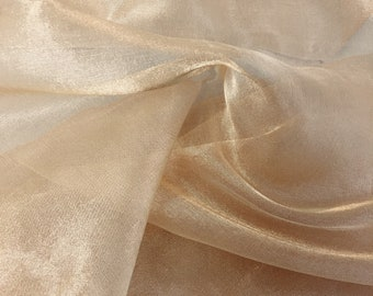 Gold silk and metal organza remnant