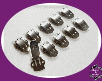 Port charges clips X 10 metal shoes clips