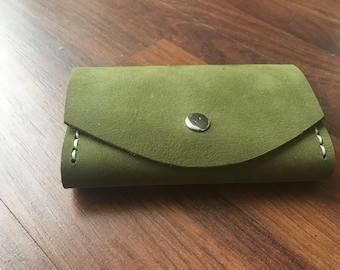 Leather Key Case Green