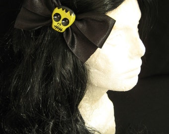 Large Black Frankenstein Hairbow
