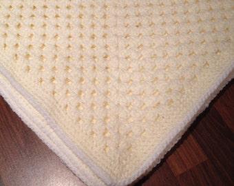Baby Crochet Blanket in Cream