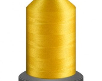 Yellow thread, quilting thread, sewing machine thread, glide thread, sewing thread, 1000m cone, West Point thread, polyester thread
