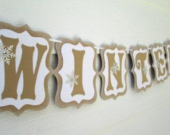 Winter Banner, Snowflake Banner