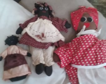 Your Choice of Vintage Folk Art Rag Dolls -15 Dollars Each!