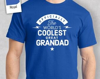 Cool Great Grandad, Coolest Great Grandad T-shirt, Personalized Great Grandad Gift. Birthday Gift For Great Grandad, Great Grandad T-Shirt!