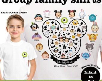 Disney Family T-Shirts, Family Tsum Tsum Shirts, Disney Family Tsum Tsum
