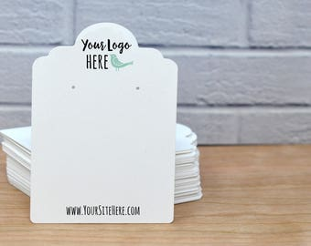 Custom Fancy Cut Earring Cards with Your Logo Jewelry Display Cards| Necklace Cards  | BT01RM