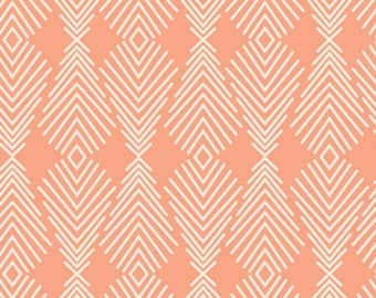 Plumage Apricot, WINGED by Bonnie Christine for Art Gallery Fabrics,  WNG-1027 -