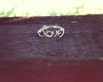 Word/Name ring Sterling Silver