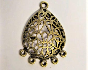 39mm*28mm Bronze Pendant, Charm, Connector, 2CT, Y55