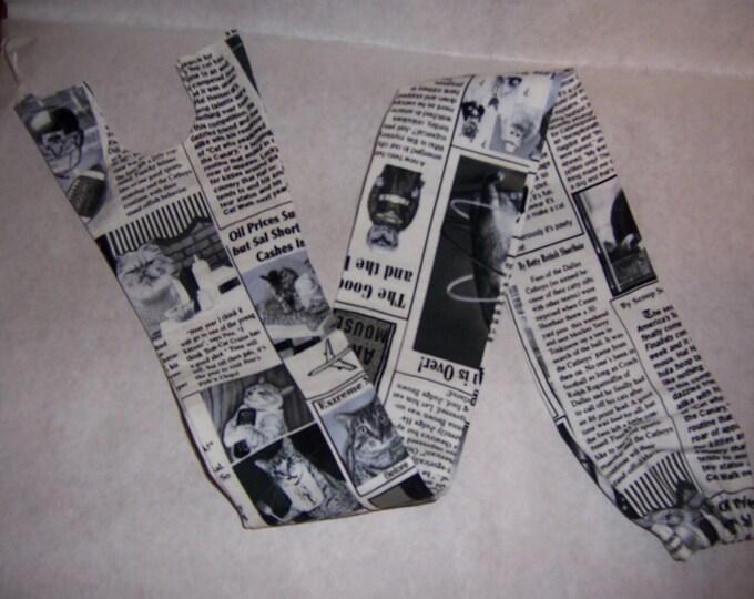 Cat newspaper print, fabric stethoscope cover