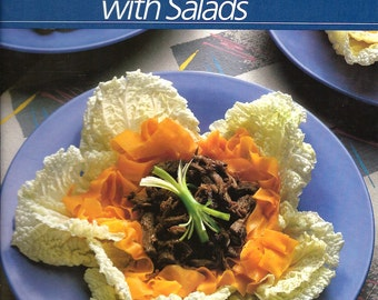 Vintage Cookbook Fresh Ways with Salads - Time Life Healthy Home Cooking PSS 2748