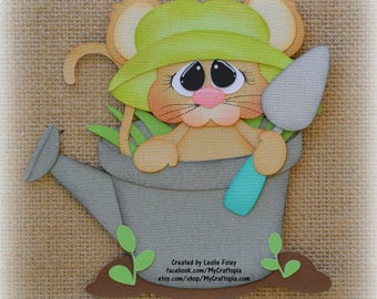 Spring Mouse Premade Scrapbooking Embellishment Paper Piecing