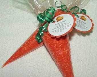 Orange Bath Salts, Carrot Bath Salts, Easter Bath Salts, Easter Gift, Bath Salt, European Bath Salts, Aromatherapy Salts