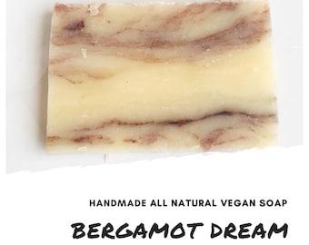 Bergamot Dream Handmade Soap Bar,  Exfoliating Soap Bar, All Natural Soap, Handmade Soap, Unscented Soap, Cold Process Soap, Vegan Soap