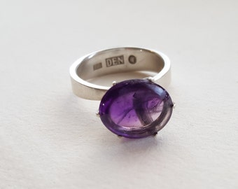 OOAK Sterling Silver and Amethyst Ring (MD120)