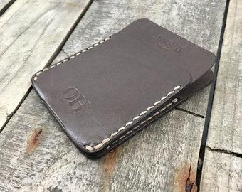 Personalised Kangaroo Leather Minimalist Wallet, Slim Leather Wallet, Thin Leather Wallet, Front Pocket Wallet, Gift for Him