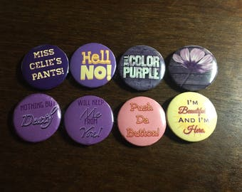 The Color Purple Pins - Set of 8