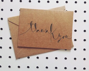 """""""Thank you"""" greeting card"""