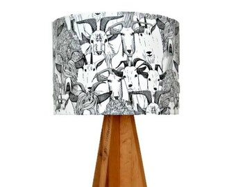 Just Goats! Farm Animals on a Lampshade