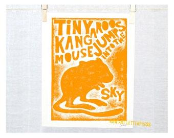 Kangaroo Mouse, Jumping Mouse, Cute Mouse Wall Art, Nursery Art Print, Boys Room Art, mouse art, woodland animal, silhouette, mouse print