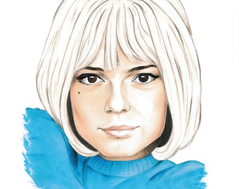 France Gall drawing